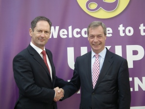 David Gale and Nigel Farage