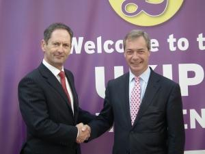 David Gale and Nigel Farage